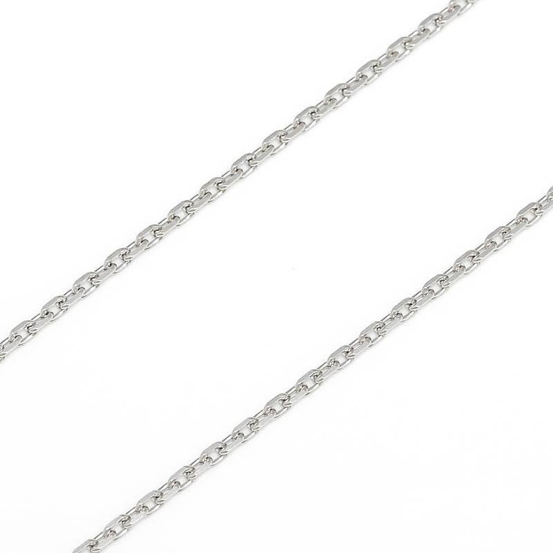 メンズアクセサリー Silver Square Cable Chain 1.6mm - Shiny