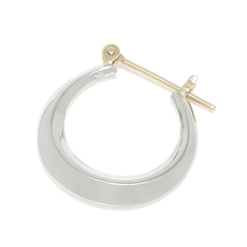 Moon Hoop Pierce - Silver