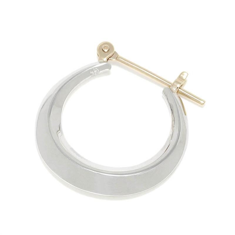 メンズアクセサリー Moon Hoop Pierce - Silver