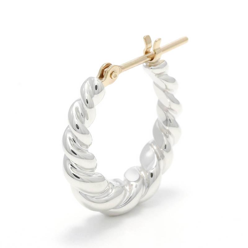メンズアクセサリー Gradation Twist Hoop Pierce - Silver