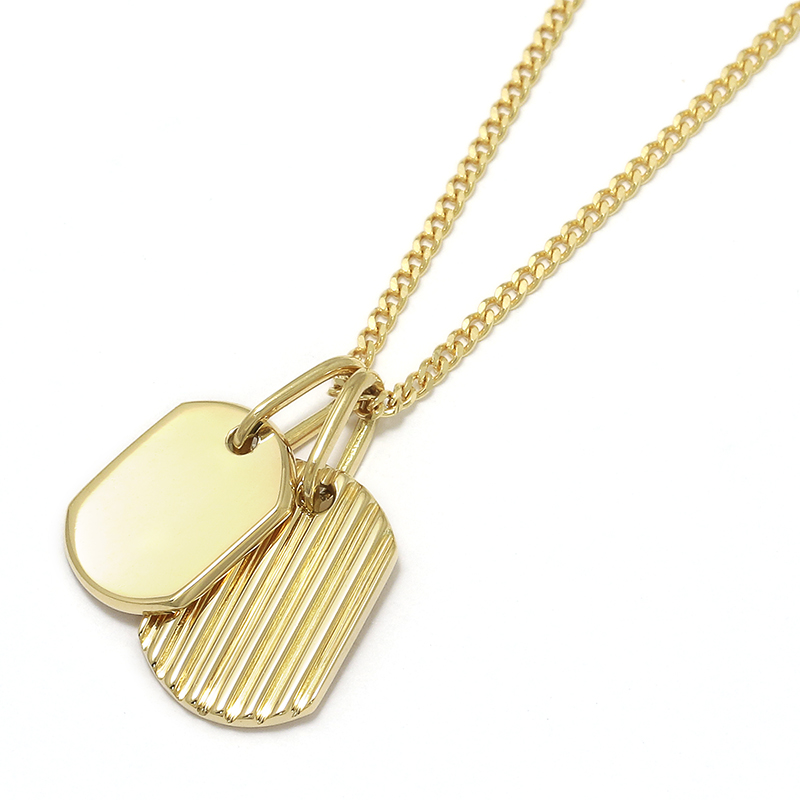 2018 Christmas Model Small Dog Tag Necklace - K18Yellow Gold
