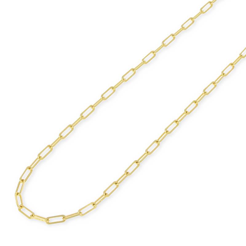 メンズアクセサリー Plain Chain Necklace - K18Yellow Gold