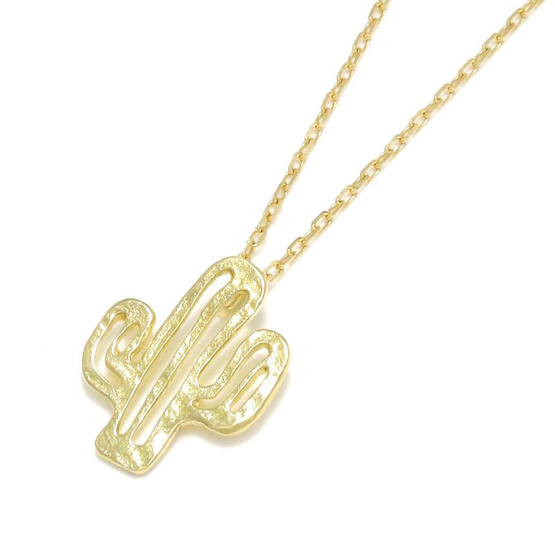 メンズアクセサリー Safari Lounge別注 Small Charm Necklace - Cactus - K18Yellow Gold