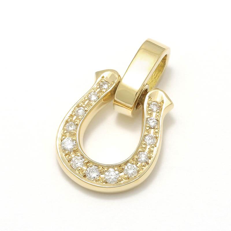 メンズアクセサリー Horseshoe Amulet - K18Yellow Gold w/Diamond