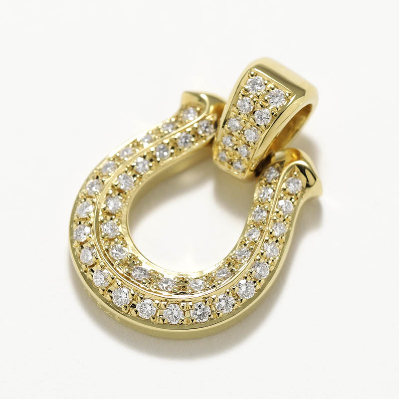 Horseshoe XL Pendant Premium - K18Yellow Gold w/Diamond