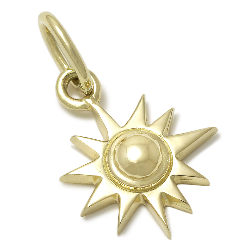 Small Sun Charm - K18Yellow Gold