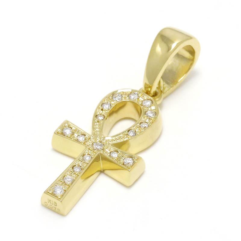 メンズ アクセサリー ペンダントトップ クロス ゴールド ダイヤモンド