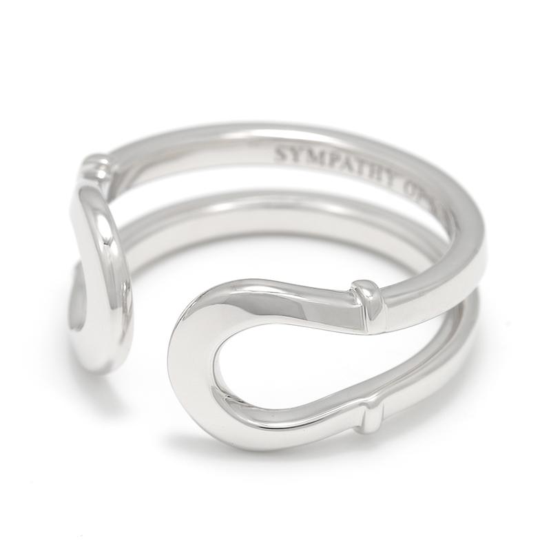 メンズアクセサリー Double Horseshoe Ring - Silver