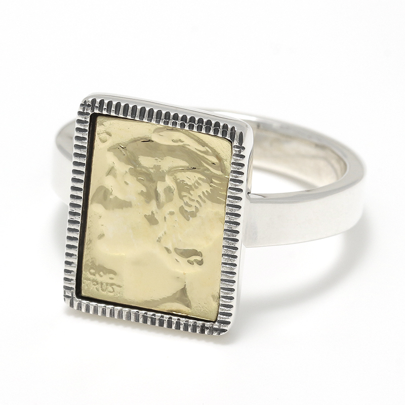 Liberty Head Ring - Silver×K18Yellow Gold