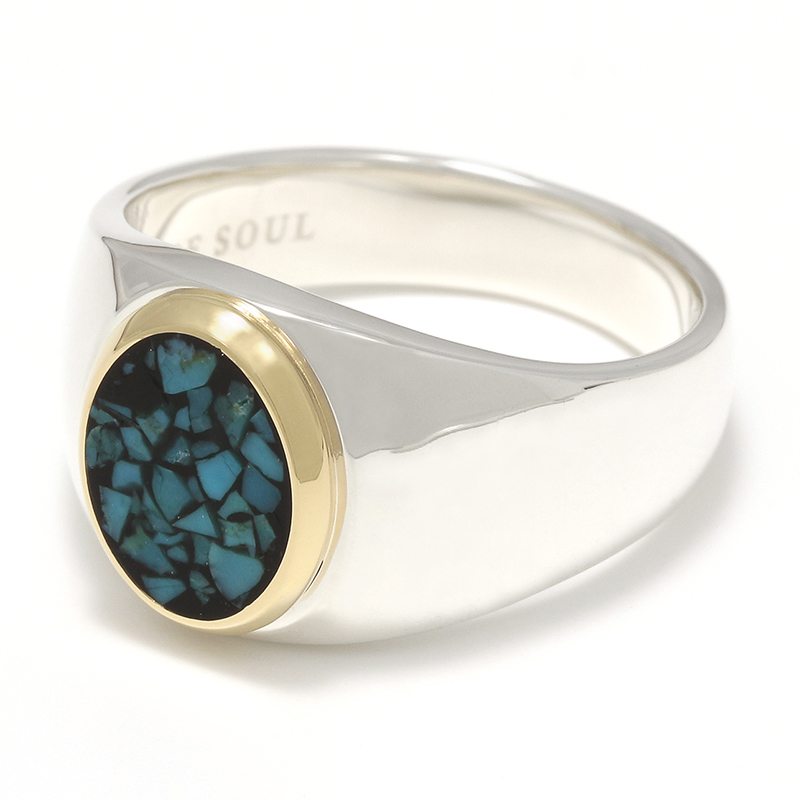 Oval Signature Inlay Ring