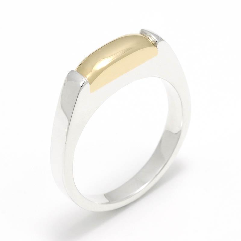 メンズアクセサリー Slice Ring - Silver w/K18Yellow Gold