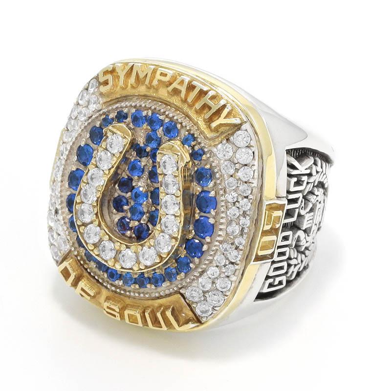 メンズアクセサリー 15th Anniversary Champion Ring - Silver×Gold Coating w/CZ