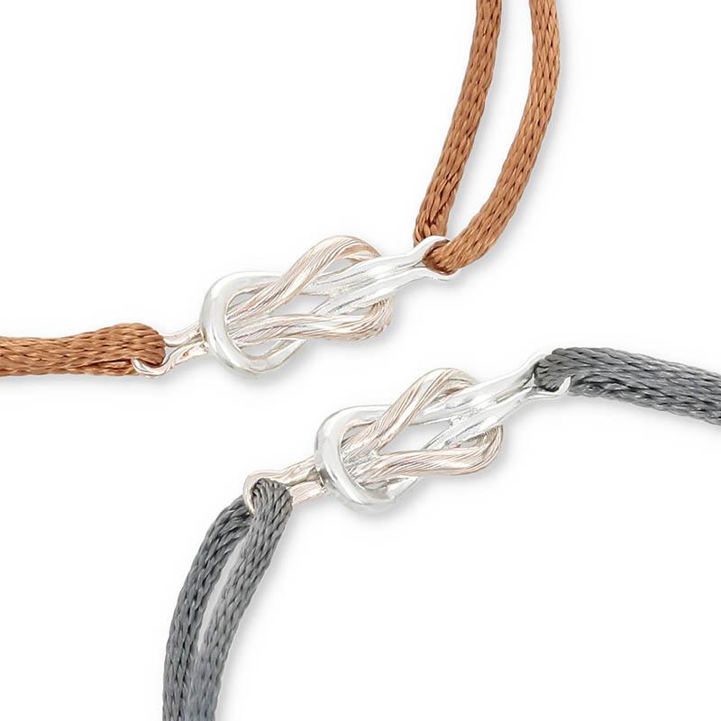 メンズアクセサリー Eternal Knot Cord Bracelet / MOKUME×Silver