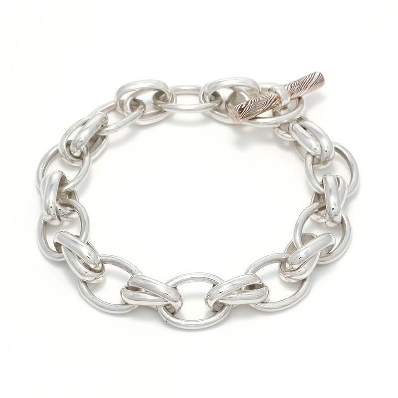 メンズアクセサリー Lg. W Ring Bracelet / MOKUME T-Bar