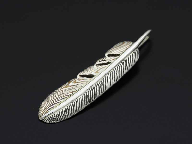 Basic MOKUME Feather Pendant