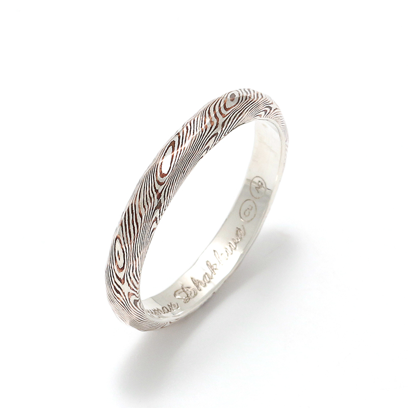 MOKUME Hammer Combination Ring