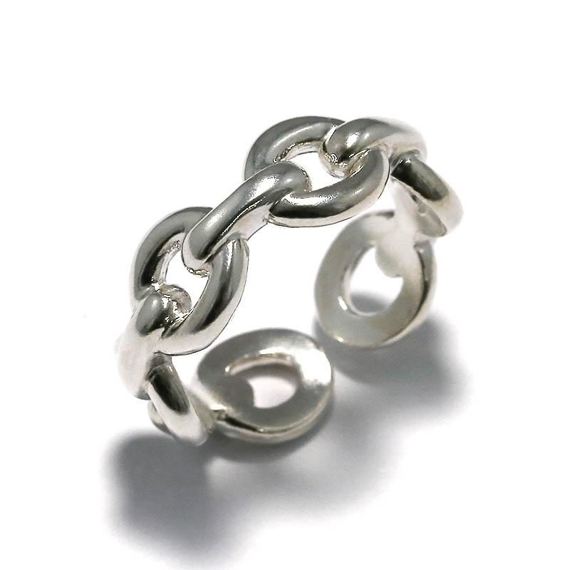 メンズアクセサリー JUST GOOD Chain Ring - Silver