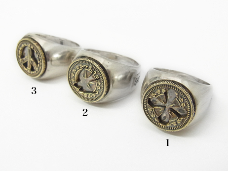 Cut Out Coin Ring - Silver×Brass