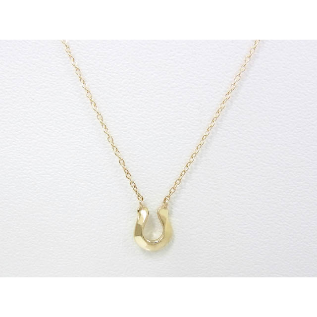 Little Horseshoe Necklace - K10Yellow Gold