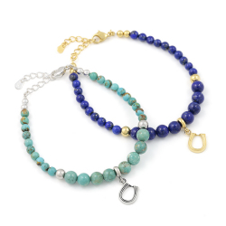 Ball Beads Bracelet w/Horseshoe