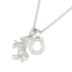 Sympathy of soul small horse horseshoe small horse horseshoe necklace silver mozeypictures Gallery