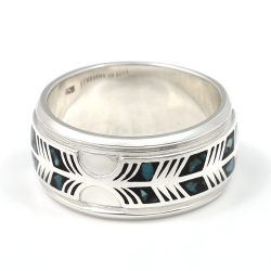 Feather Inlay Ring