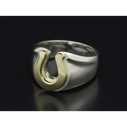 Horseshoe Amulet Combination Ring - Silver×Brass