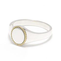 Signet Rope Ring - Silver×K18Yellow Gold
