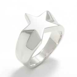Signet Star Ring - Silver