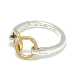 Unity Double Ring - Silver×K18Yellow Gold