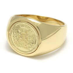 Classic Coin Ring / Good Luck - K18Yellow Gold