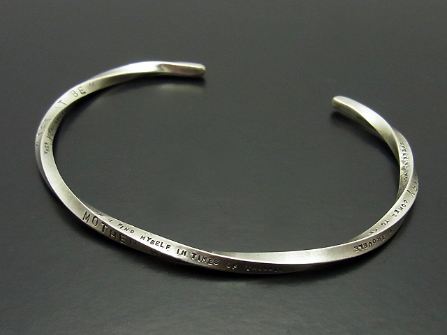 Hand Stamp Twisted Bangle (Thin)