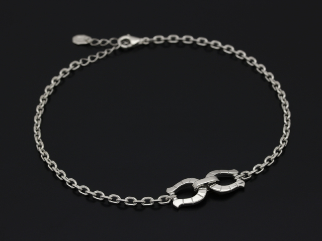 Horseshoe Chain Anklet - Silver