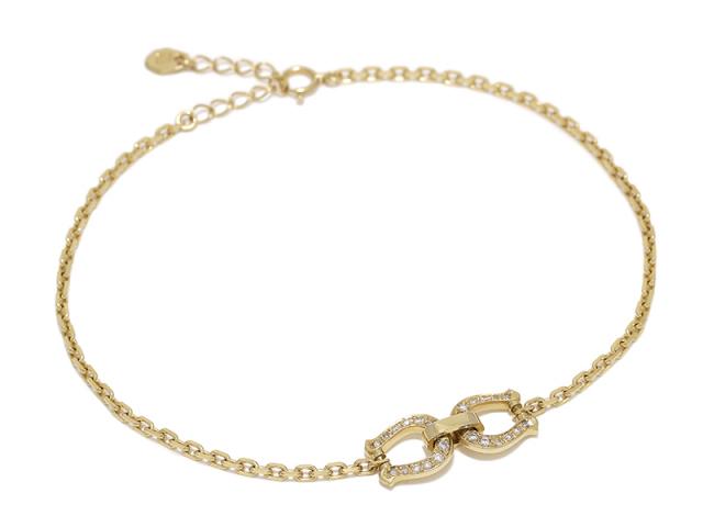 Horseshoe Chain Anklet - K18Yellow Gold w/Diamond