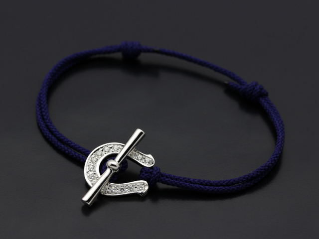Fortune Cord Bracelet & Anklet - Silver w/CZ