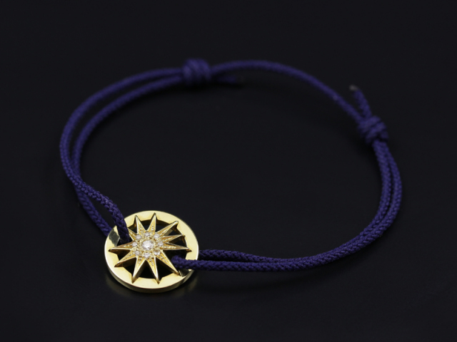 Sunshine Cord Bracelet  K18 Yellow Gold w/Diamond