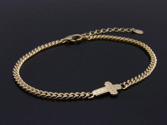 Gravity Cross Chain Bracelet K18Yellow Gold