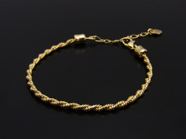 Twist Chain Bracelet - K18Yellow Gold