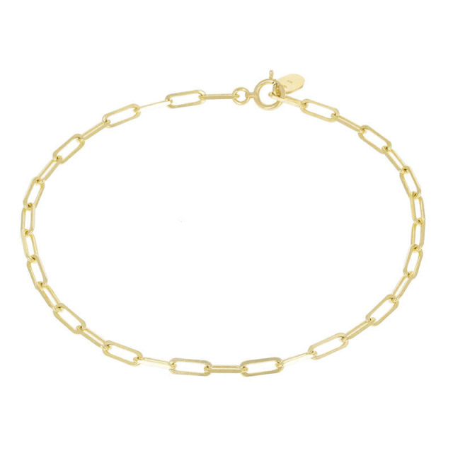 Plain Chain Bracelet - K18Yellow Gold