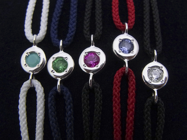 Stone Cord Bracelet - Silver