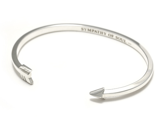 Small Arrow Bangle - Silver