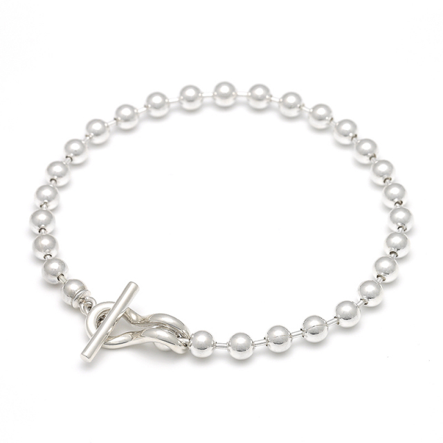 Ball Chain T-Bar Bracelet