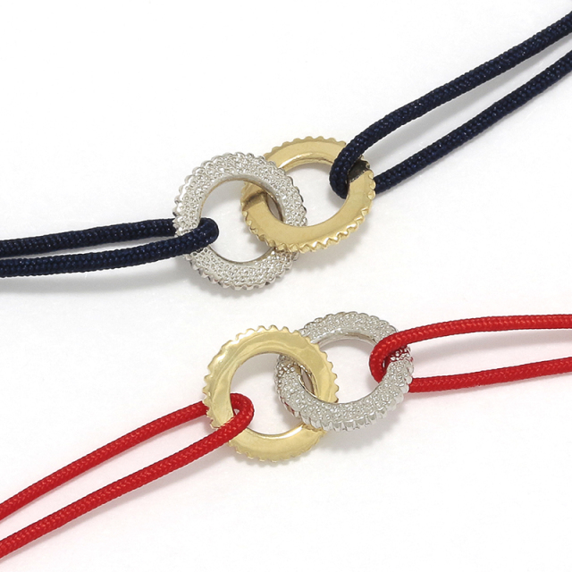 Double Ring Cord Bracelet