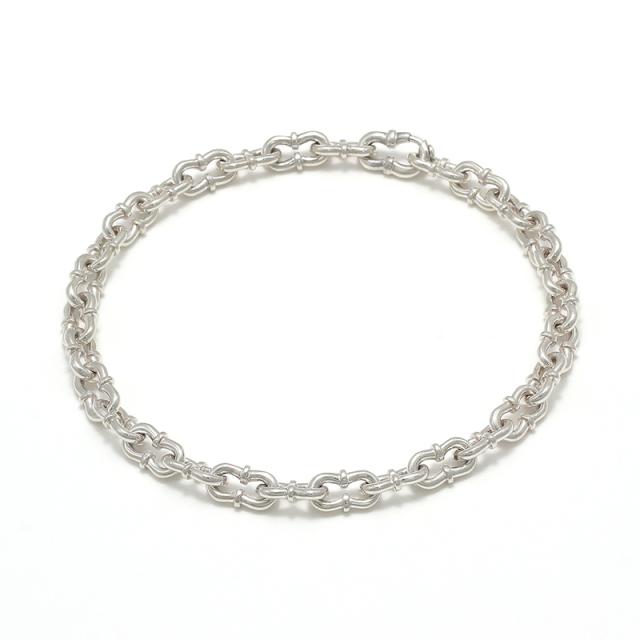 Double Horseshoe Link Bracelet - Silver