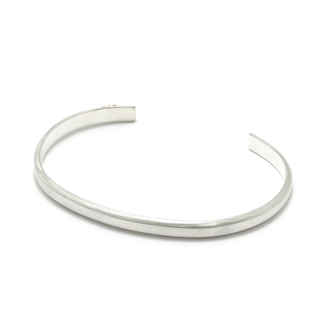Horseshoe Charm Bangle - Silver×K18Yellow Gold