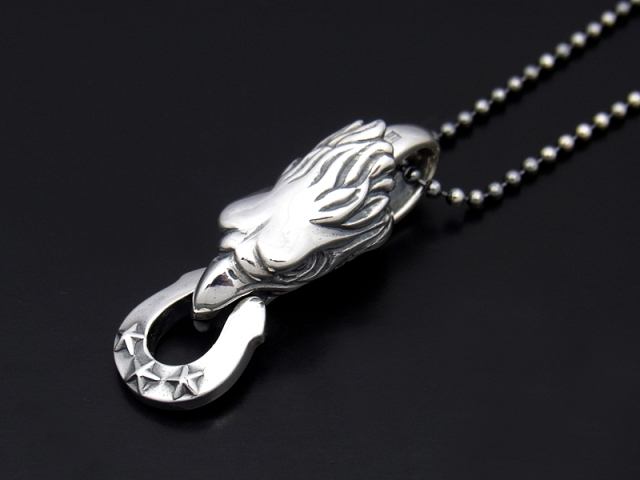 BILL WALL LEATHER×SYMPATHY OF SOUL  Eagle Necklace w/Horseshoe