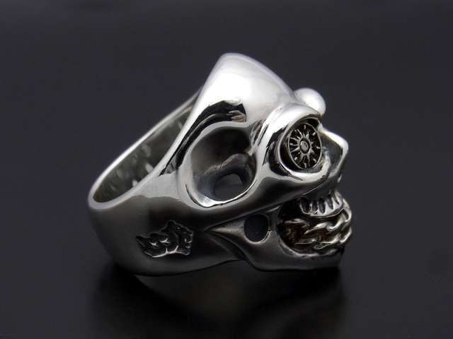 BILL WALL LEATHER×SYMPATHY OF SOUL  Medium Master Skull Ring - Silver