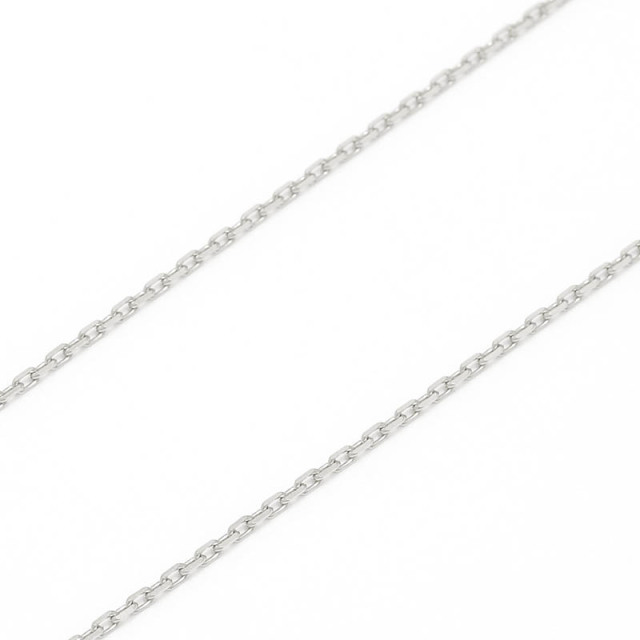 K18White Gold 0.42 Square Chain