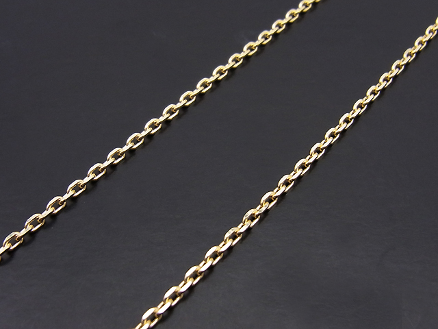 K10 Gold 0.48 Square Chain - 45cm