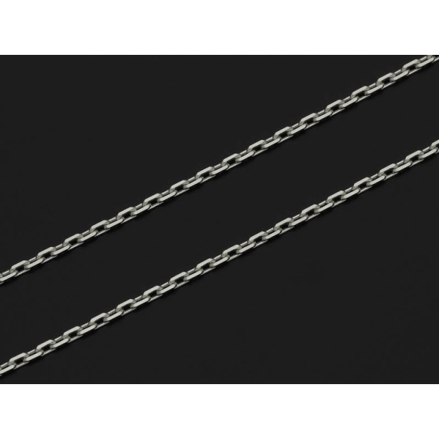 K18White Gold 0.53 Square Chain